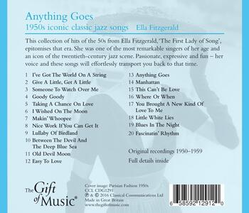 Anything Goes 1950's - CD Audio di Ella Fitzgerald - 2
