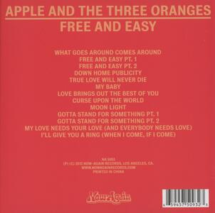 Free and Easy - CD Audio di Apple and the Three Oranges - 2