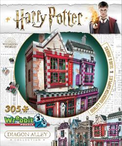 Puzzle 3D 305 Pz Wrebbit W3D-0509. Harry Potter. Diagon Alley Quality Quidditch Supplies + Slug & Jiggers