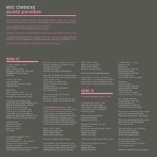 Slowly Paradise - CD Audio di Eric Chenaux