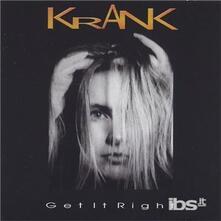 Get It Right - CD Audio di Krank