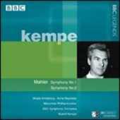 CD Sinfonie n.1, n.2 Gustav Mahler Rudolf Kempe Radio Symphony Orchestra Monaco