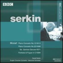 Concerti per pianoforte n.12, n.20 - CD Audio di Wolfgang Amadeus Mozart,Rudolf Serkin,English Chamber Orchestra