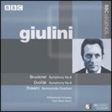 Sinfonia n.8 / Sinfonia n.8 - CD Audio di Anton Bruckner,Antonin Dvorak,Carlo Maria Giulini,Philharmonia Orchestra