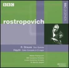 Don Quixote / Concerto per violoncello n.2 - CD Audio di Franz Joseph Haydn,Richard Strauss,Mstislav Rostropovich,London Symphony Orchestra,Malcolm Sargent