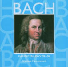 Cantate Sacre vol.29: BWV94, BWV95, BWV96 - CD Audio di Johann Sebastian Bach,Nikolaus Harnoncourt,Concentus Musicus Wien