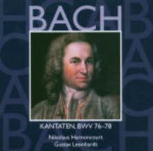 Cantate Sacre vol.24: BWV76, BWV77, BWV78 - CD Audio di Johann Sebastian Bach,Nikolaus Harnoncourt,Gustav Leonhardt,Concentus Musicus Wien