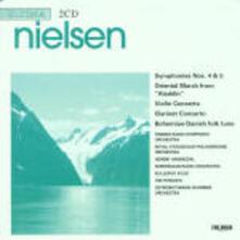 Sinfonie n.4, n.5 - Marcia orientale - Concerto per violino - Concerto per clarinetto - CD Audio di Carl August Nielsen