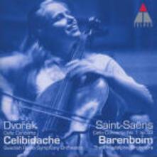 Concerto per violoncello n.1 / Concerto per violoncello - CD Audio di Antonin Dvorak,Camille Saint-Saëns,Sergiu Celibidache,Daniel Barenboim,Jacqueline du Pré