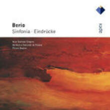 Sinfonia per 8 voci - Eindrucke - CD Audio di Luciano Berio,Pierre Boulez,Orchestre National de France