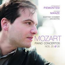 Concerti per pianoforte n.25, n.26 - CD Audio di Wolfgang Amadeus Mozart,Scottish Chamber Orchestra,Andrew Manze,Francesco Piemontesi