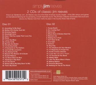 Simply Jim Reeves - CD Audio di Jim Reeves - 2