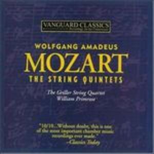 Quintetti per archi completi - CD Audio di Griller String Quartet,William Primrose