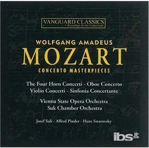 Concerto Masterpieces - CD Audio di Wolfgang Amadeus Mozart