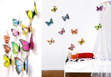 Farfalle Colorate 3D. 10Pz. Walplus (Ws1021)