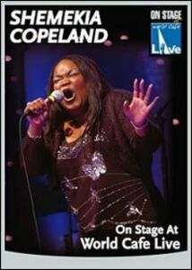 Film Shemekia Copeland. On Stage At World Cafe. Live