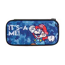 Switch Pdp Custodia Slim Travel Case Mario-Camo Blue