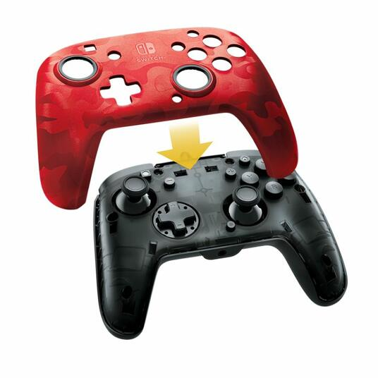 PDP Faceoff Deluxe+ Audio Gamepad Nintendo Switch Analogico/Digitale USB Nero, Rosso - 2