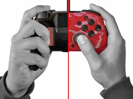 PDP Faceoff Deluxe+ Audio Gamepad Nintendo Switch Analogico/Digitale USB Nero, Rosso - 4