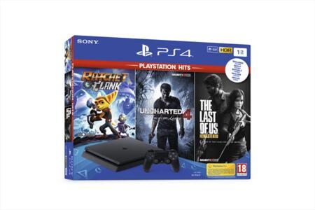 PS4 1TB + Ratchet&C+TLoU+Uncharted4 Hits
