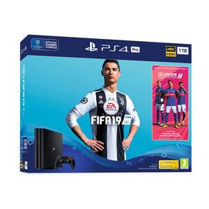 PlayStation 4 Pro + FIFA 19 Sony 63819 1 TB Nero