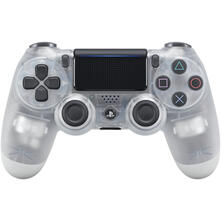 Sony Dualshock 4 V2 Gamepad PlayStation 4 Analogico/Digitale Bluetooth/USB Traslucido, Bianco
