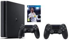 Sony Playstation 4 + FIFA 18 + Dualshock 4 Nero 500 GB Wi-Fi