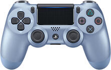 Sony DualShock 4 Gamepad PlayStation 4 Analogico/Digitale Bluetooth Blu, Titanio
