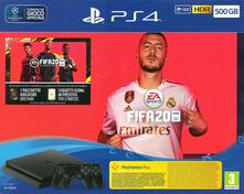 Console PlayStation 4 500 GB (Chassis F) + FIFA 20 + 2° Controller - Nero