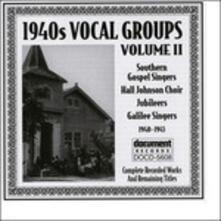1940s Vocal Groups Vol 2 - CD Audio