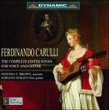Integrale delle songs per voce e chitarra - CD Audio di Ferdinando Carulli