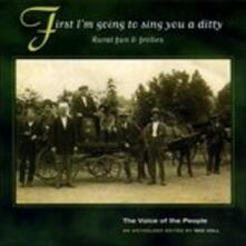 First I'm Going to Sing - CD Audio