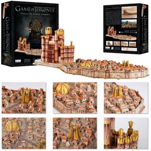 Giocattolo Puzzle 3D Trono di Spade. Kings Landing 4D Cityscape