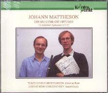 Der Brauchbare Virtuoso. 12 Sonate per flauto e clavicembalo - CD Audio di Johannes Mattheson