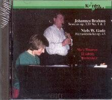 Sonate per clarinetto - CD Audio di Johannes Brahms,Niels Wilhelm Gade,Elisabeth Westenholz,Niels Thomsen