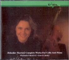 Complete Works for Cello - CD Audio di Bohuslav Martinu
