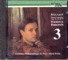 Concerti per pianoforte n.11, n.12 & n.13 - CD Audio di Wolfgang Amadeus Mozart,Orchestra Filarmonica di Nizza,Homero Francesch