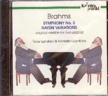 Sinfonia n.3 - Haydn Varia - CD Audio di Johannes Brahms