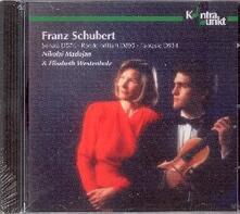 Musica per violino e pianoforte - CD Audio di Franz Schubert,Elisabeth Westenholz,Nikolai Madojan