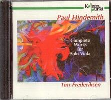 Complete Works for Solo V - CD Audio di Paul Hindemith
