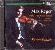 Works for Solo Violin op - CD Audio di Max Reger