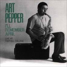 I'll Remember April - CD Audio di Art Pepper