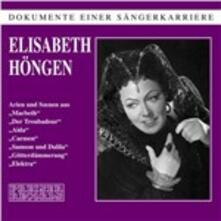 Sings Arias - CD Audio di Elisabeth Hongen