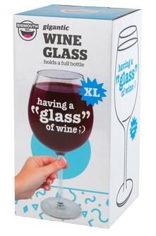 Big Mouth Bmwg-Gl Wine Glass Having A Glass