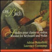 Sonate per strumento a tastiera e violino - CD Audio di Carl Philipp Emanuel Bach