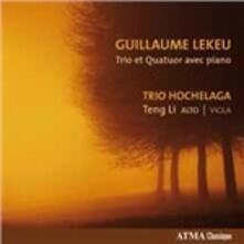 Trio con pianoforte - Quartetto con pianoforte - CD Audio di Guillaume Lekeu