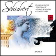 """Quintetto con pianoforte """"La trota"""" - Adagio e Rondò Concertante - CD Audio di Franz Schubert,Nashville Ensemble"""