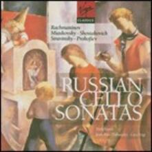 Sonate russe per violoncello - CD Audio di Sergej Sergeevic Prokofiev,Sergej Vasilevich Rachmaninov,Dmitri Shostakovich,Igor Stravinsky,Nikolai Yakovlevich Myaskovsky,Truls Mork