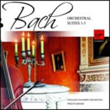 Suites per orchestra n.1, n.2, n.3 - CD Audio di Johann Sebastian Bach,English Chamber Orchestra,Philip Ledger