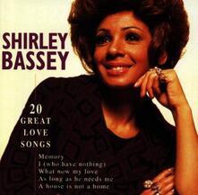 20 Great Love Songs - CD Audio di Shirley Bassey